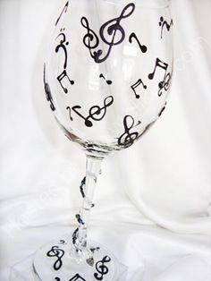 music note wine glass