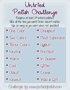 Just Add Polish: Introducing the Nail Polish Untried Challenge! Sugar Coat Nails, 10 Day Challenge, The Art Of Nails, Kudos To You, Finger Nail Art, Sinful Colors, Color Club, How To Stay Motivated, Cosmetology