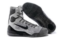 Mens Nike Kobe 9 Elite High-Top Base Grey/Black