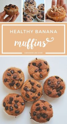 Banana muffins gone healthy. They taste as good as they look! Click through to read more, or repin to save for later!