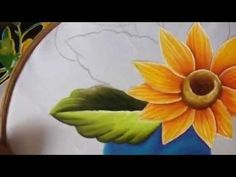Pintura en tela camino de girasol # 2 con cony One Stroke Painting, Painting Videos, Easy Paintings, Beautiful Paintings, Painting Techniques, Painted Leaves, Hand Painted, Tole Painting Patterns, Hand Embroidery Videos