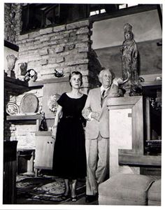Frank Lloyd Wright and Wife at Taliesin, 1956.