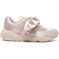Fenty by Puma Bow Satin Sneakers ( 160) ❤ liked on Polyvore featuring shoes 1a80c6868e19