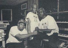 DJ Premier in the studio with Mobb Deep