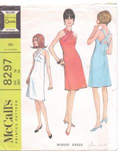 Vintage 1960s McCalls Sewing Pattern 8297 Womens by CloesCloset