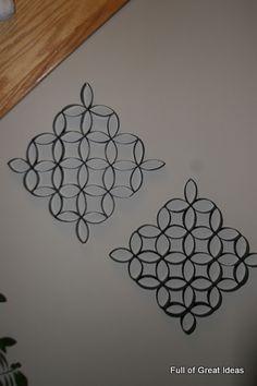 25 Creative DIY Toilet Paper Roll Wall Art | Toilet paper roll ...