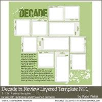 Decade in Review Layered template No. 01
