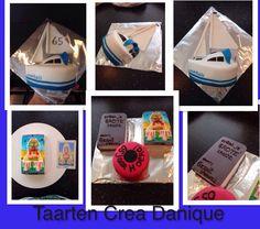 Zeilboot taart, sailboat cake. Tarotkaart taart, tarotcard cake, boek taart.