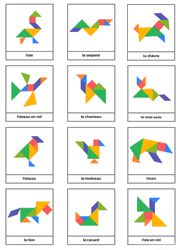 Tangrams to print - Lulu the mole, free games for kids Ce fantastic return on Montessori Activities, Preschool Math, In Kindergarten, Learning Activities, Activities For Kids, Tangram Printable, Tangram Puzzles, Busy Boxes, Learning Shapes