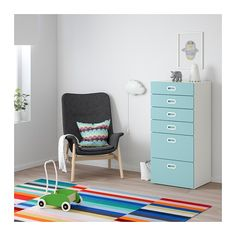 IKEA offers everything from living room furniture to mattresses and bedroom furniture so that you can design your life at home. Check out our furniture and home furnishings! 6 Drawer Chest, Chest Of Drawers, Ikea Stuva, Kids Dressers, Ikea Family, Painted Drawers, White Chests, Ikea Home, Smart Storage