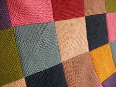 Ravelry: Mitered Square Patchwork Rug pattern by Donna Druchunas