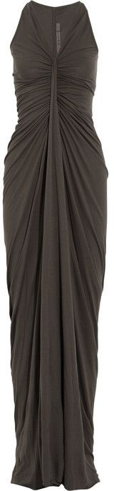Rick Owens LILIES New Kite draped jersey maxi dress on shopstyle.com