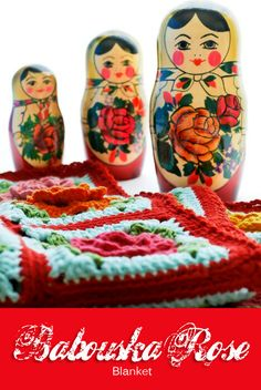So lovely.  Great inspiration and includes chart for motif            Crochet: Babouska Rose Blanket