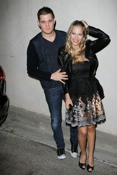 Michael Buble & Fiance Buying Booze In West Hollywood