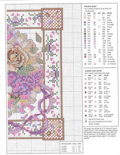 Cross-stitch Victorian Roses, part 2..  with color chart...   Solo Patrones Punto Cruz   Aprender manualidades es facilisimo.com