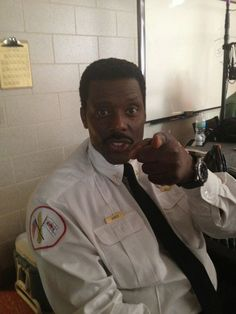 """""""One take is all I need."""" – Chief Boden on the #ChicagoFire set"""