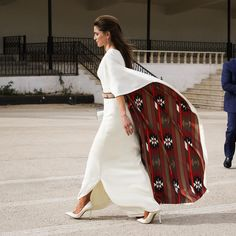Queen Rania of Jordan attends celebrations for the 71st anniversary of Jordan's Independence at Raghadan Palace on 25 May 2017.