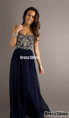 Sapphire Ball Dress-this would be perfect if it had a slit!