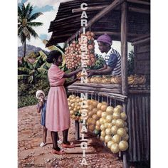 Fruit Vendor by David Moore