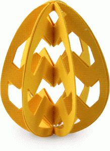 "I think I'm in love with this ""3D Egg Chevron Stripe"" shape from the Silhouette Online Store! #easter"