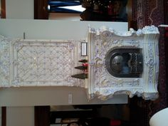 The gorgeous fireplace (Gallery A bedchamber) at the American Swedish Institute