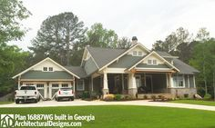 Architectural Designs House Plan 16887WG built in Georgia. 3 beds, 2 baths and offer 1,800 square feet of living. Ready when you are. Where do YOU want to build?