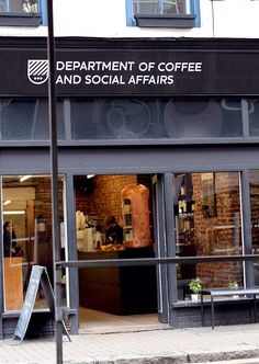 'Department of Coffee and Social Affairs' what a cute name for a cafe! via Beautycrush.co.uk