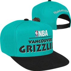 Mitchell & Ness Vancouver Grizzlies Hardwood Classics Media Day Snapback Hat - Teal by Mitchell & Ness. $23.02. Raised embroidered team wordmark on front , Embroidered team logo on left side , Scripted Mitchell & Ness branding on back , 100% Wool , Officially licensed NBA; Adjustable plastic snapback; Retro shape; High crown style; Mitchell & Ness Hardwood Classics Media Day 2-Tone Snapback Hat. Represent your team all year long with this Vancouver Grizzlies Mitc...