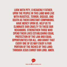 Prayer for the Oppressed via the Book of Common Prayer