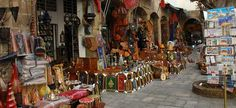 Crafts shop at Houbous, Casablanca in Morocco
