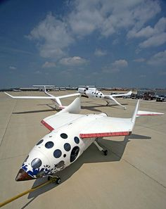 Eight years ago yesterday, June 21, the first privately funded human spaceflight  happened. In 2005, Scaled Composites delivered SpaceShipOne to the National Air and Space Museum. Photo: NASM (Eric Long)