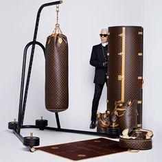Le punching ball par Karl Lagerfeld