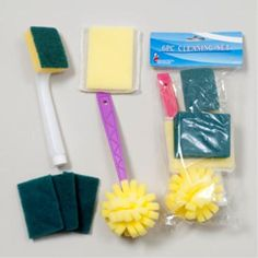 6 Piece Cleaning Set Case Pack 96