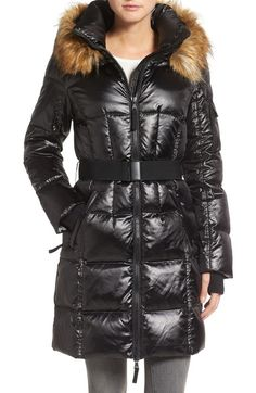 S13 'Nolita' Quilted Coat with Faux Fur Trim available at #Nordstrom