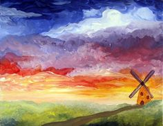 Paint Nite Pittsburgh | Windmill Landscape - The Boulevard (Delmont) - 9/24/2015