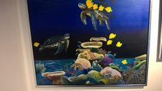 Livet under vandet i galleri 3-g #fisk  #galleri3g #kunstklærkvinder