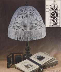 Crochet pattern for lamp- rose Lamp Shades, Light Shades, Crochet Bebe, Knit Crochet, Lampe Crochet, Crochet Designs, Crochet Patterns, Doily Lamp, Creative Diary