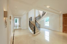 Custom helical stairs to fit your individual needs. Concrete Staircase, Concrete Floors, Polished Concrete, Sound Proofing, Stairs, Flooring, Contemporary, Building, Design