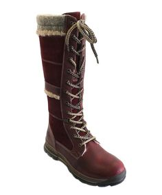 Love this Red Scarlet Grassy Leather Boot by Bos. & Co. on #zulily! #zulilyfinds