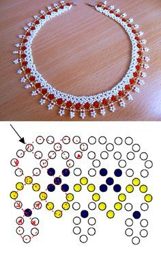 Necklaces Diy Free pattern for necklace Sicily – 0 (also possible use - Free pattern for amazing beaded necklace Sicily The best size of seed beads Beaded Jewelry Designs, Seed Bead Jewelry, Bead Jewellery, Jewelry Making Beads, Diy Jewelry, Homemade Jewelry, Seed Beads, Jewelry Findings, Beading Tutorials