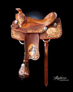 Double XX Show Saddle. Lisa & Loren Skyhorse - Master Saddle Makers Since 1972