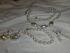 """""""White Pearl Nuggets"""" 4 piece set --- -ONE OF A KIND --- $8.00 + $3.00 shipping in the USA"""