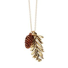 Look what I found at UncommonGoods: Redwood Needles and Pinecone Pendant for $80.00