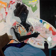 Untitled, 2009. #KerryJamesMarshall is an artist who aims to address the absence of black artists and subjects in the history of art. His works rewrite art that spans from the Renaissance to 20th Century abstraction by adding black figures to his paintings and therefore filling the long-standing and ignored void of black subjects in the art history world.  cc: @devhynes #Gallery29 #AcknowledgeIsPower