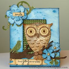 Layers of ink - Owl Frame by Anna-Karin