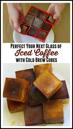 Iced Coffee Perfection!  A step by step picture tutorial on how to make iced coffee cubes.  Don't let your coffee get watered down. Keep it going strong all morning!