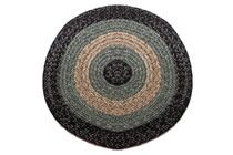 Massachusetts - Country Black & Sage Round Braided Rug This high-quality braided rug is made by American workers at our family-owned business in the North Carolina Mountains. It is made from Naturalized Olefin, which is a synthetic, polypropylene yarn that is extremely durable, yet soft enough for use indoors. It is color fast and washable. Visit www.stroudbraided... for more details