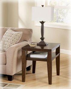 Deagan Contemporary Dark Brown Wood End Table