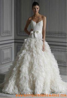 Robe de mariée de luxe dentelle organza