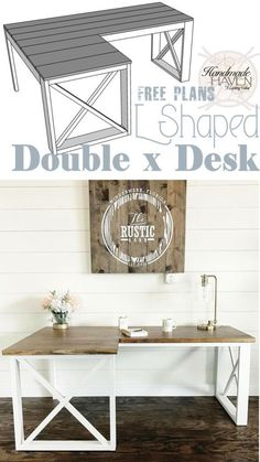 How TO : DIY Office Desk L Shaped - Woodworking Plans #WoodworkingPlans
